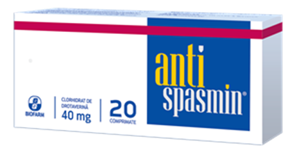 Imagine ANTISPASMIN 40MG X 20 COMPRIMATE BIOFARM