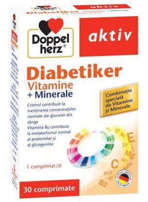 Imagine DOPPELHERZ AKTIV DIABETIKER VITAMINE+MINERALE X 30 COMPRIMATE (+10 COMPRIMATE GRATIS)