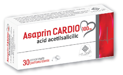 Imagine ASAPRIN CARDIO 100MG X 30 COMPRIMATE