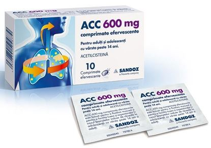 Imagine ACC 600MG PLICURI X 10 COMPRIMATE EFERVESCENTE