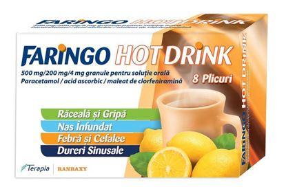 Imagine FARINGO HOT DRINK 500MG/200MG/4MG X 8 PLICURI TERAPIA