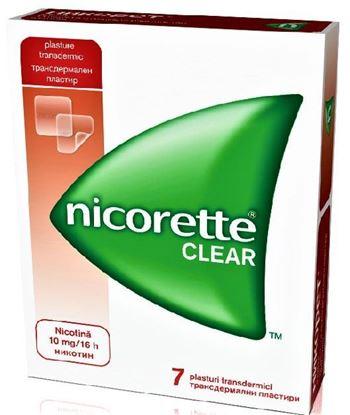 Imagine NICORETTE CLEAR 10MG/16H X 7 PLASTURI