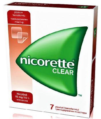 Imagine NICORETTE CLEAR 15MG/16H X 7 PLASTURI