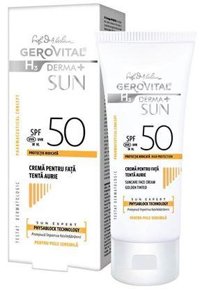 Imagine GEROVITAL H3 DERMA+ SUN CREMA PENTRU FATA ANTI-IMBATRANIRE SPF50 AURIU X 50ML