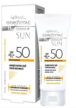 Imagine GEROVITAL H3 DERMA+ SUN CREMA PENTRU FATA ANTI-IMBATRANIRE SPF50 NATURAL X 50ML