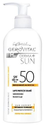Imagine GEROVITAL H3 DERMA+ SUN LAPTE PENTRU PROTECTIE SOLARA SPF50 X 150ML