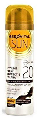 Imagine GEROVITAL SUN LOTIUNE SPRAY PENTRU PROTECTIE SOLARA SPF20 X 150ML