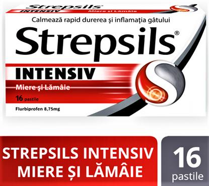 Imagine STREPSILS INTENSIV MIERE SI LAMAIE X 16 PASTILE