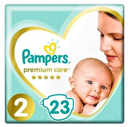 Imagine PAMPERS 2 (4-8KG) PREMIUM CARE X 23 BUCATI