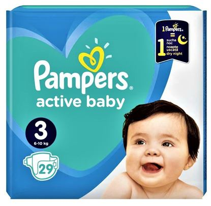 Imagine PAMPERS 3 (6-10KG) ACTIVE BABY X 29 BUCATI
