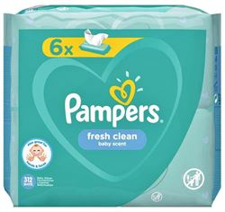 Imagine PAMPERS SERVETELE FRESH CLEAN X 52 BUCATI (6 PACHETE)